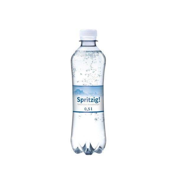 500 ml Wasserflasche Slimline spritzig