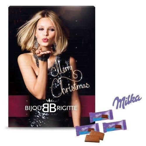 Wand-Adventskalender mit Milka Schokolade