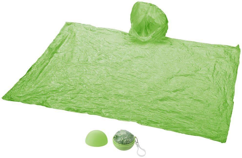Grüner Regenponcho