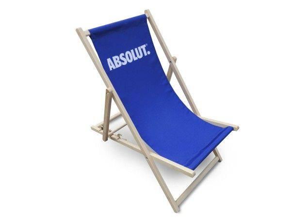 Klassik Holzliegestuhl ohne Armlehne