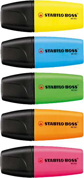 Stabilo Boss Mini Beispiele