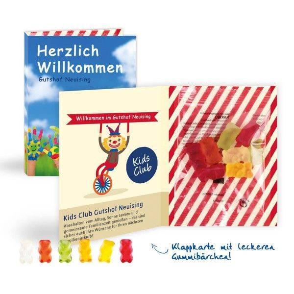 Doppelkarte mit Haribo Fruchtgummi