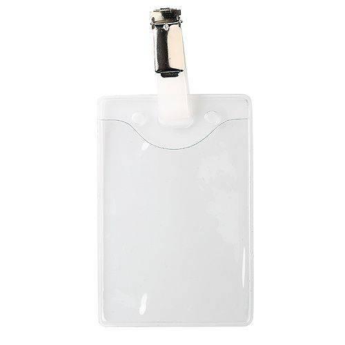 Ausweishülle Soft Plastic mit Clip