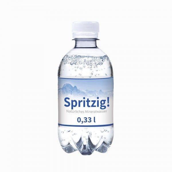 330 ml Wasserflasche spritzig