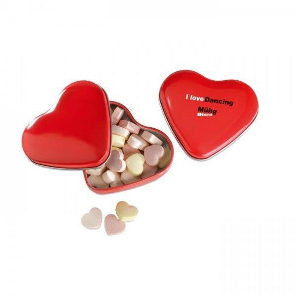 LOVEMINT Herzförmige Bonbons in Herzdose