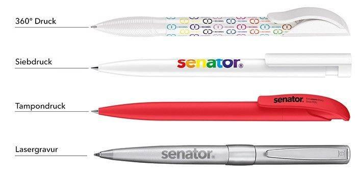 Senator Kugelschreiber Druckarten