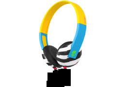 Bunt bedruckter Kopfhörer