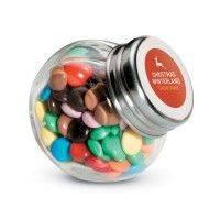 CHOCKY Schokoladenlinsen im Glasspender