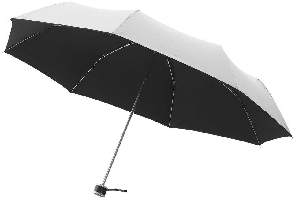 Hochwertiger Taschenschirm als Werbeartikel in schwarz / weiß