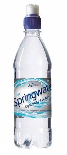 Wasserflasche 500 ml Sportverschluss (Transparent)