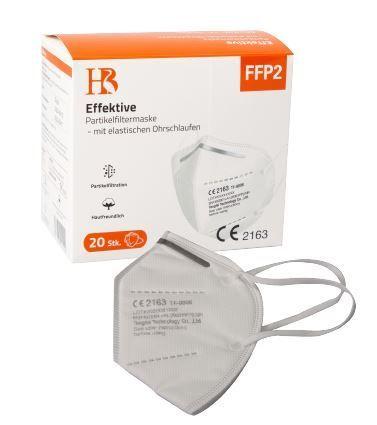 FFP2 Schutzmaske mit deutschsprachiger Verpackung