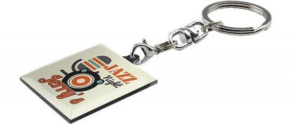 Schlüsselanhänger Hard Single Farbdruck