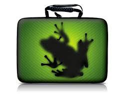 Werbe Laptoptasche mit Frosch als Logo
