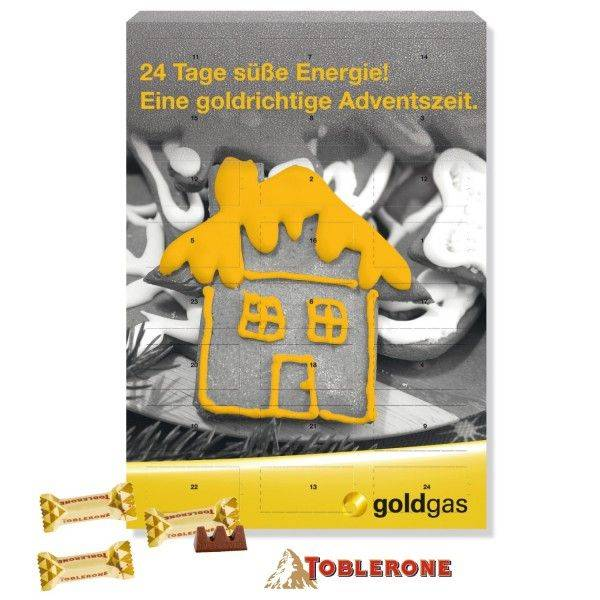 Wand-Adventskalender mit TOBLERONE